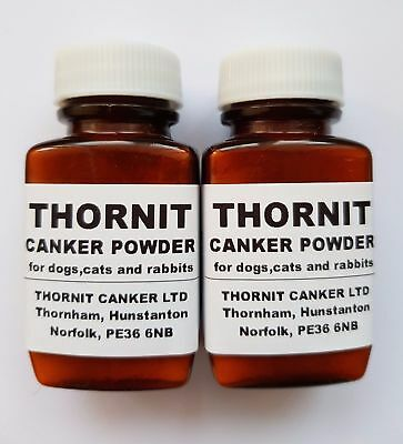 THORNIT CANKER POWDER - EAR MITES TREATMENT FOR DOGS, CATS & RABBITS - 2 x 20g