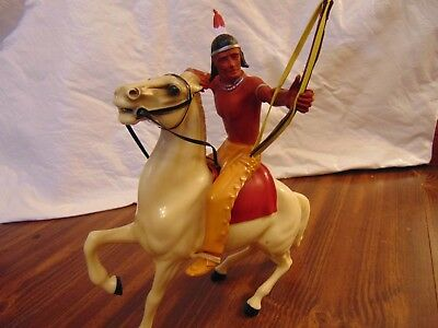 Vintage 1950's Hartland Brave Eagle and His Horse White Cloud  - FREE SHIP!