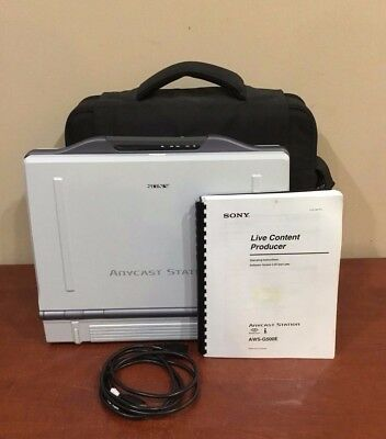 Sony Anycast Station AWS-G500 Live Content Producer w/ BKAW-590 / 550 & Case