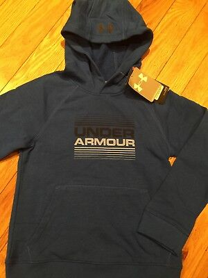 NWT Under Armour Sweatshirt Boys Small Youth Small Athletic Blue Hoodie New!!!