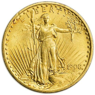 1908 $20 St. Gaudens Gold Double Eagle, Large Uncirculated Coin [3484.04]
