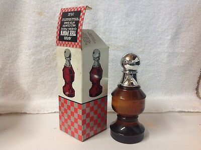Vintage Avon The Pawn Chess Piece NIB Full 3oz