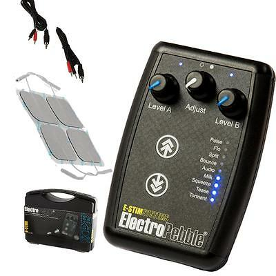 E-Stim Pebble 9 Estim/tens Modes 2 Independant Channels Same Day Dispatch