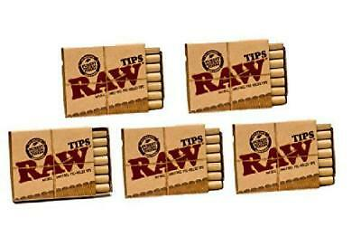 Raw Natural Unrefined Pre-Rolled Filter Tips 5 Pack 21 Per Box FREE SHIPPING