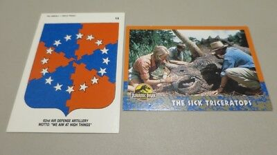 Australia Jurassic Park Trading Card No. 28 & 62nd Air defence Artillery