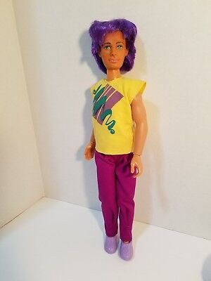 Jem and the Holograms RIO doll, clothes and shoes, hat  Hasbro 1986 Boy