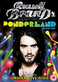 NEW R2 DVD Russell Brand PONDERLAND Series 1 One + Exclusive UNSEEN LIVE GIGS