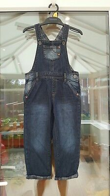 Great Pair Of Boys Denim Dungarees From Tu (Size 3-4 Years) Never Worn