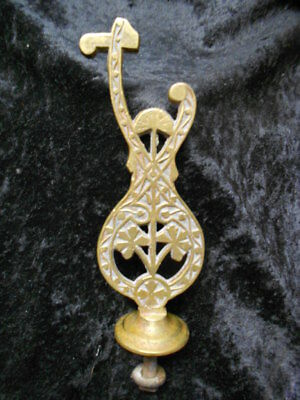 Large Antique Brass Art Deco Finial - 5 1/4 Inches Tall - Stunning Detail!