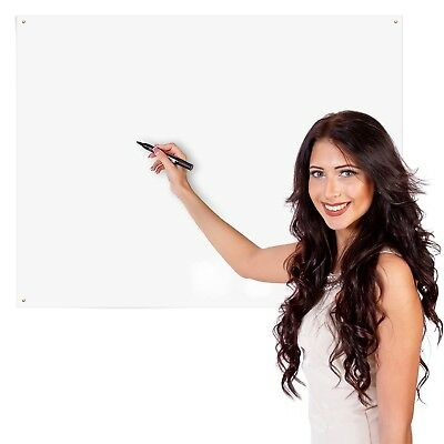 "Large Dry Erase White Board 36"" X 48"" Surface Sheet for Office School Home Wall"