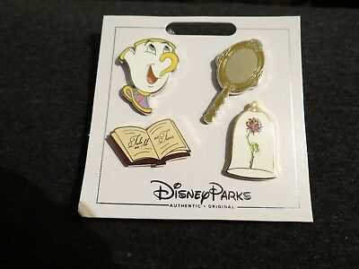 Disney Parks 4 Pin Beauty and the Beast Pin Set