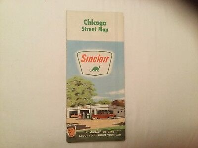 1963 Sinclair Gas Station. Map Of Chicago Streets