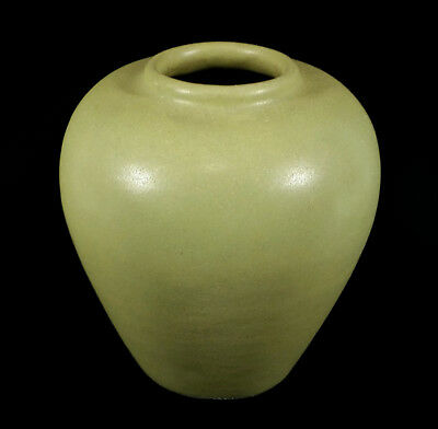 Fine Authentic Teco Antique Matte Green Arts & Crafts Era American Pottery Vase