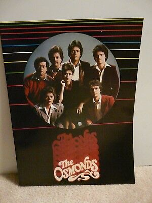 The Osmonds Vintage Original 1979 Concert Program~Donny Osmond~Marie Osmond