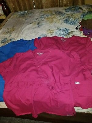 Pre-Owned Grey's Anatomy Lot of 3  Size XL Woman's Scrub Tops