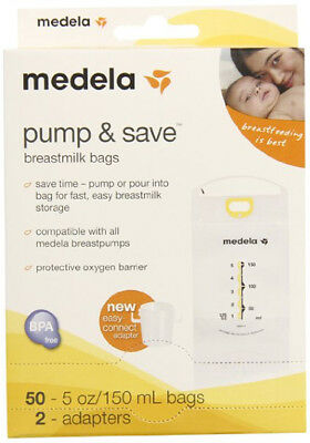 Medela Pump & Save Bags With Funnel - 50 Pack