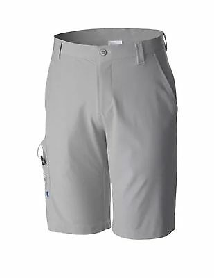Columbia PFG Fishing Mens Shorts  New  Sz 40  Omni-Shield  Grey  Reel  Rod  Lure