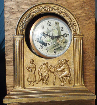 1933 United Animated Bartender Prohibition Clock for Repair