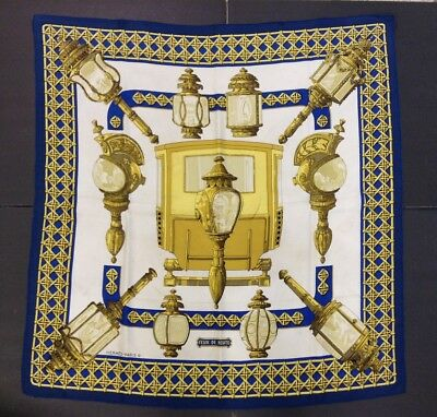 "Hermes of Paris-100% Silk Multi Color Scarf w/ tag-Bonwit Teller-32x32""-Lights"