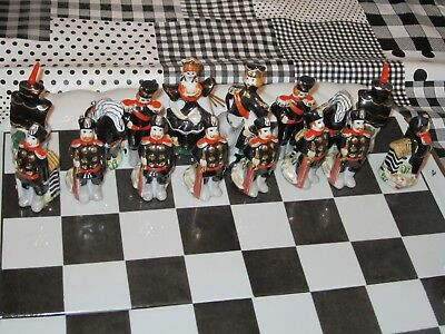 Russian Porcelain Chess Set by Fabric Gardner Verbilky