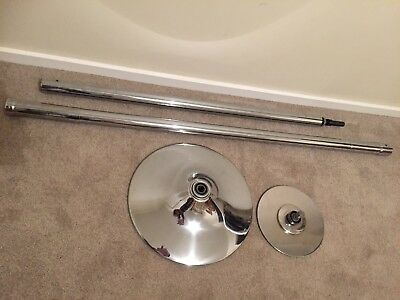 As New Portable Spinning Pole 45mm Chrome In Excellent Condition