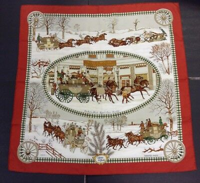 "Hermes of Paris-100% Silk Multi Color Scarf-Regent's Circus-32x32""-w/ tag"