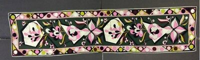 "Emilio Pucci-Firenza 100% Silk Multi Color Scarf-Abstract Floral-12"" x 36"""