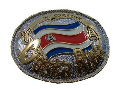 Costa Rica Country Flag Belt Buckle + FREE S&H