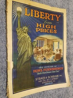WW1 Straus and Schram Chicago Home Furnishings color catalog WWI 1914-1916