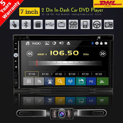 """Sony Lens 7"""" Car Stereo Radio DVD Player Double 2Din iPod Bluetooth TV MP3 SWC Y"""