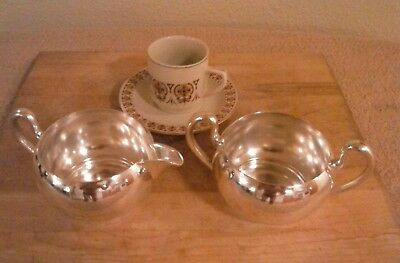 Silver Plated Sugar And Creamer Set. Excellent Finish.