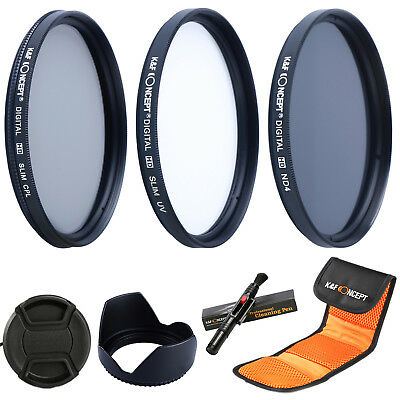 58mm UV CPL Circular Polarizing ND4 Filter Kit Set for for Canon 18-55mm Lens