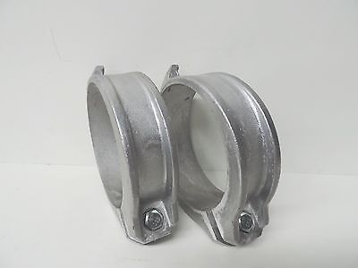 """NEW Custom Aluminium Coupling 100mm 4"""" Locking Ring (QTY 2) with bolt and nut"""