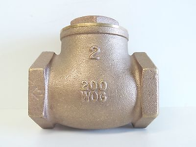 "NEW Check Valve Swing Brass 50mm 2"" BSP Non Return Irrigation Pump 50 mm"