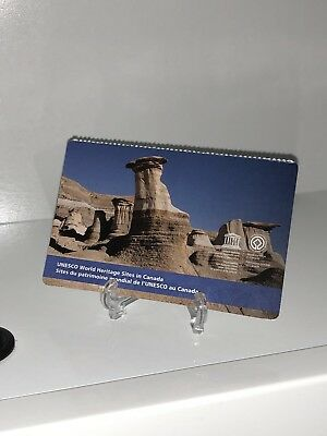 ERROR Canada 2015 UNESCO World Heritage Sites Dinosaur STAMP Booklet COVER ONLY