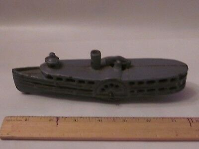 antique cast iron steam boat toy
