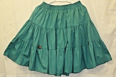 """Full circle square dance skirt Elastic waist with belt loops 14"""" to 20"""" L 21.5""""`"""