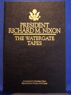 President Richard Nixon signed The Watergate Tapes autograph Eisenhower Dick