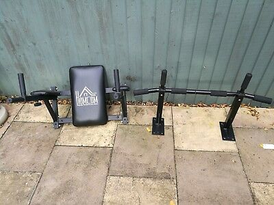 Home Gym Equipment: Wall-Mounted Pull Up Bar and Dip / Leg Raise Station