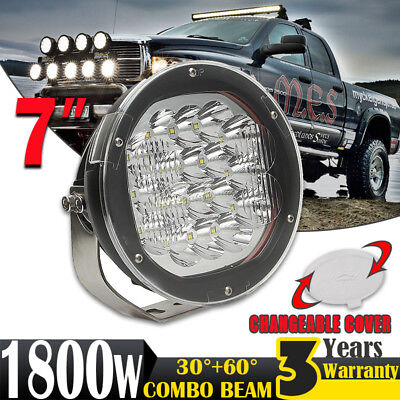 7inch 1800W LED CREE Driving Light SPOT Work Lamp Offroad 4x4WD Truck Round HID
