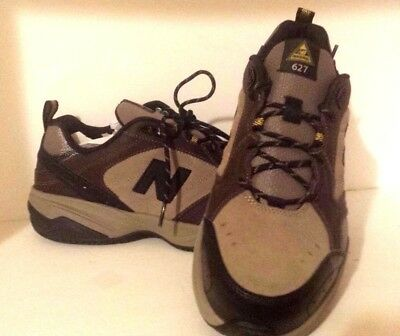 New Balance Shoes Steel Toe 627 Brown Suede Slip Resistant Safety Size 10.5 4E