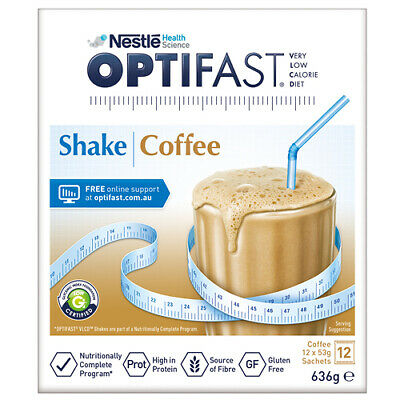 NEW Optifast VLCD Coffee Shake - 12 x 53g Sachets