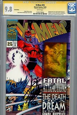 X-Men Vol 2 25 CGC 9.8 SS Gold cover variant Stan Lee Wolverine Gambit Rogue