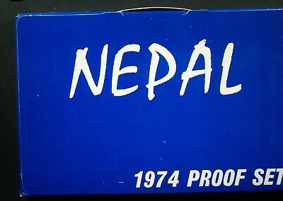1974 Nepal PROOF SET - All original packaging - some corrosion    #B
