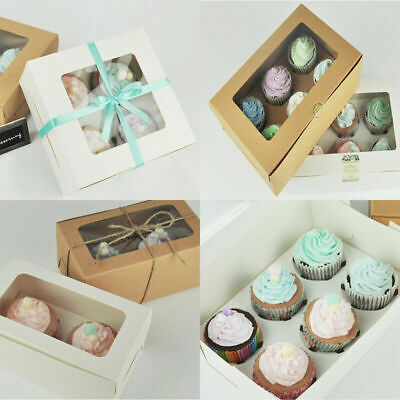 246 Hole Kraft Cupcake Cake Favor Box Container For Wedding Party