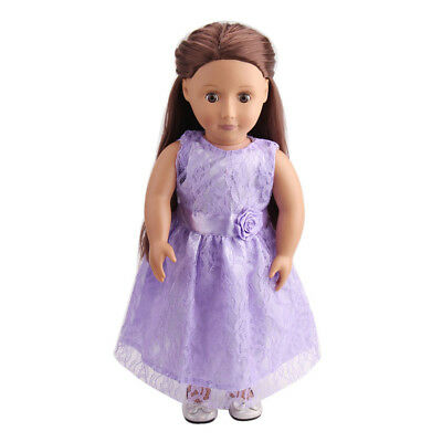 Lace Rose Dress Clothes Suit for 18inch American Girl Our Generation AG Doll
