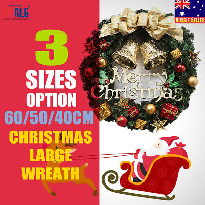 40/50cm Colour Double Bell Wreath Christmas Door Wall Decoration Party Home Xmas