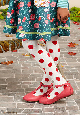 Matilda Jane Harp Tights 12-14 The Adventure Begins Polka Dot Tween Xl Sold Out
