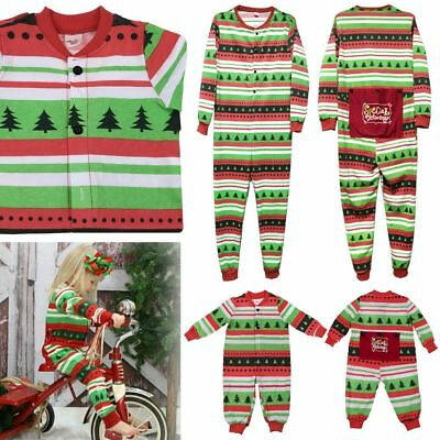 Christmas Kids Adult Family Pajamas Set Xmas Sleepwear Nightwear Pyjamas Costume