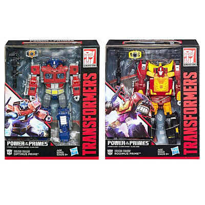 Transformers Power Of The Primes Leader W1 Optimus + Rodimus Prime Set of 2 MIB